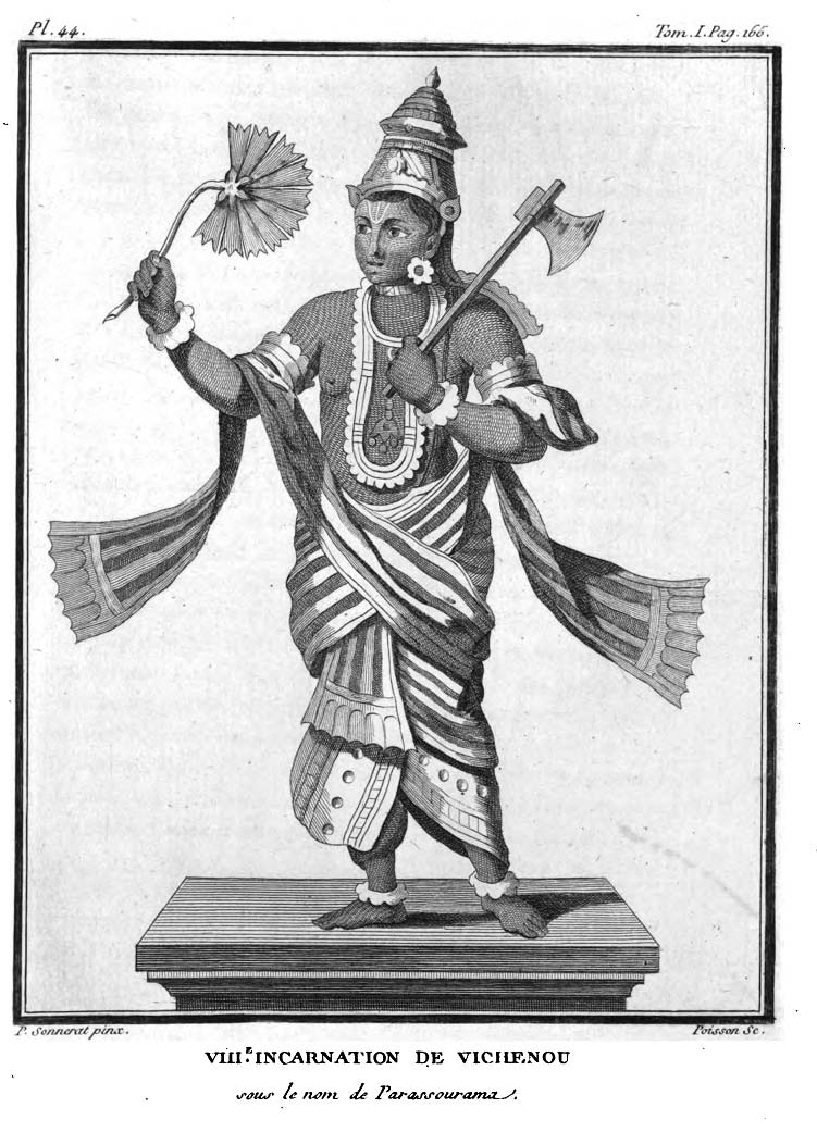 Illustrations of Hindu Gods from the book Voyage aux Indes orientales et à la Chine by French Explorer Pierre Sonnerat — 1782
